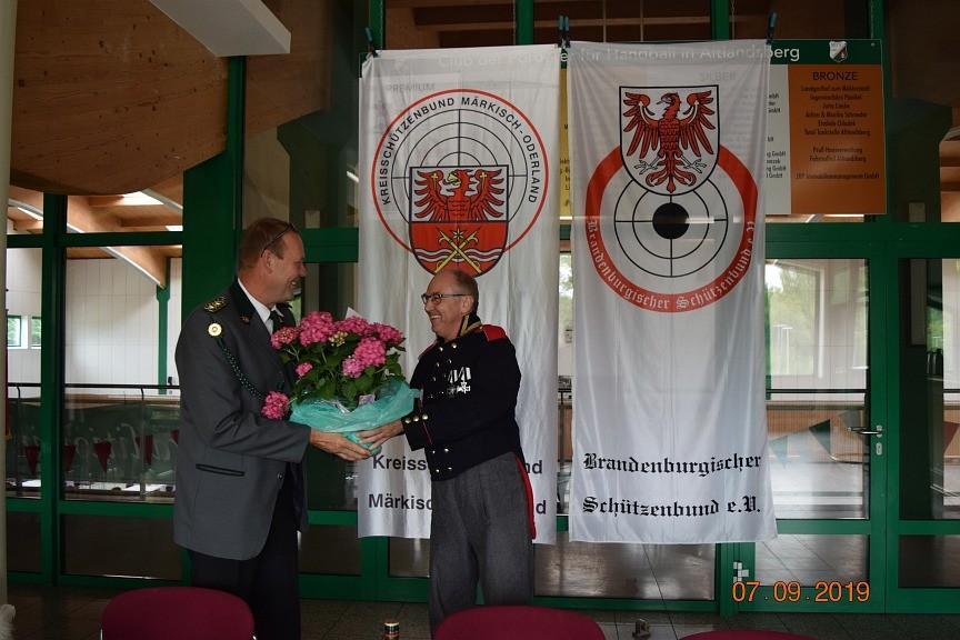 Gastgeschenk vom Schützenverein Hönow
